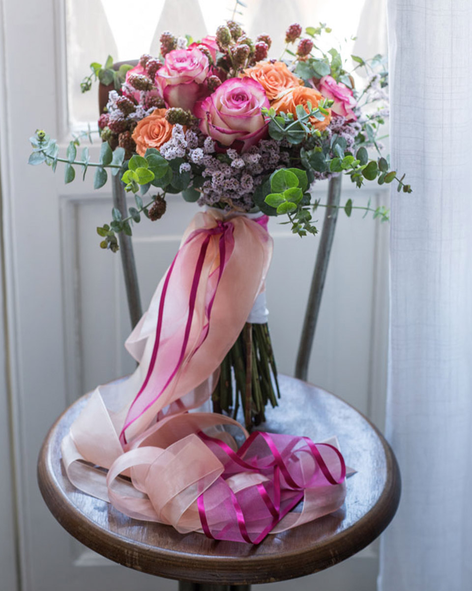 nastri organza per bouquet
