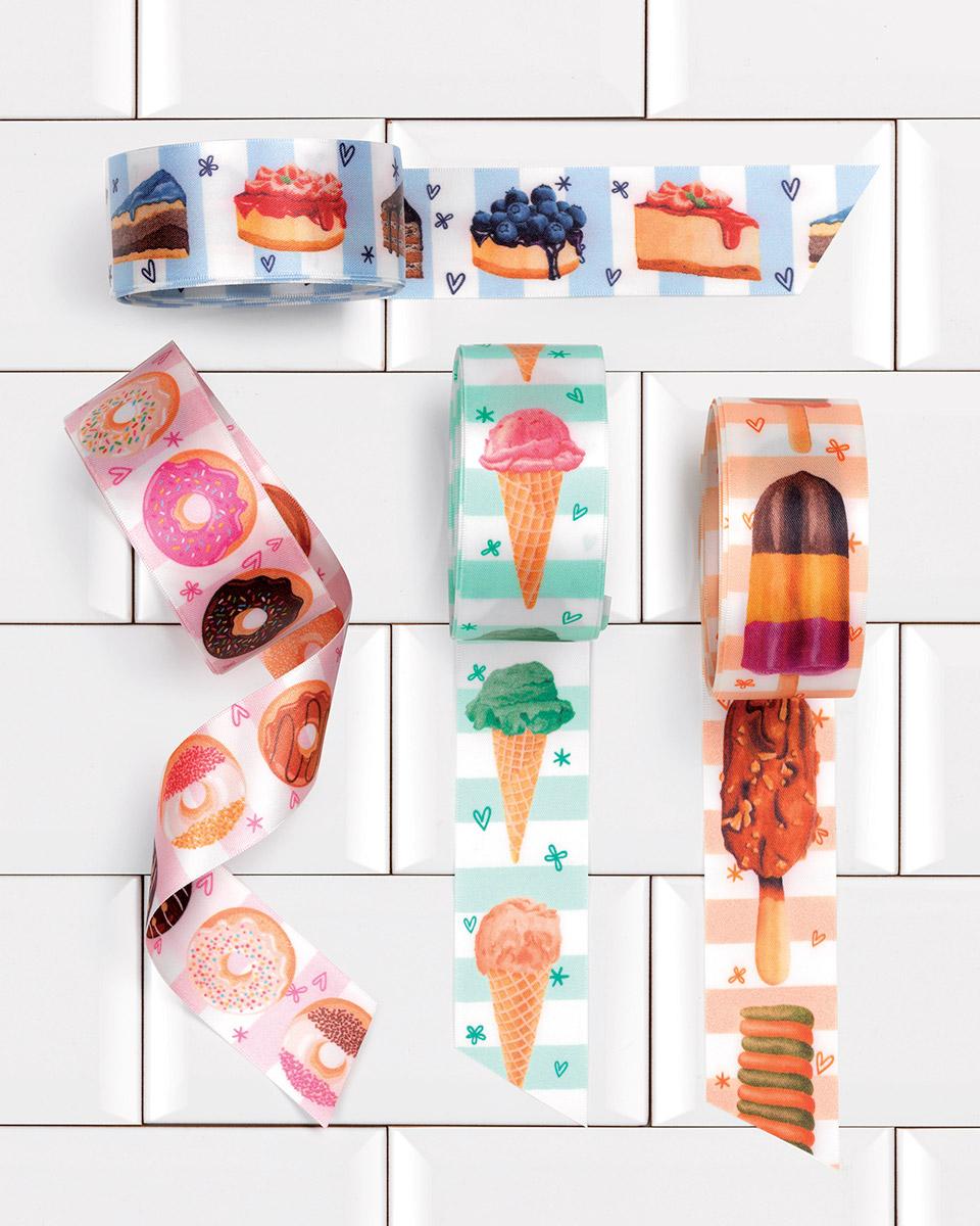 nastri con fantasia donuts e altri dolci