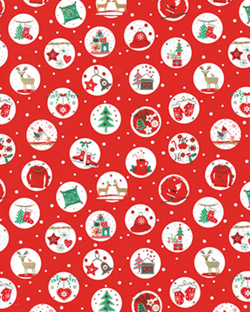 coordinati natalizi carta nastro