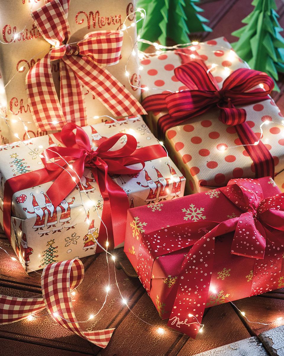 nastri natalizi tessuto